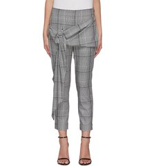 'pierre' check print buckle detail pants