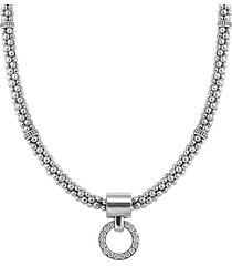 lagos 'enso' diamond pendant necklace in silver at nordstrom