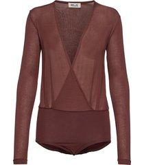 joanie t-shirts & tops long-sleeved brun baum und pferdgarten