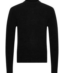 m. yak r-neck sweater gebreide trui met ronde kraag zwart filippa k