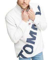 tommy hilfiger denim men's half-zip logo sweatshirt