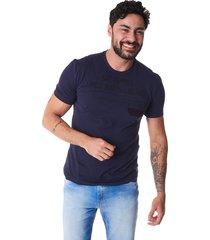 camiseta convicto bolso com recorte azul
