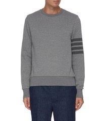 bar stripe relaxed sweatshirt
