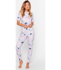 gaze up space jogger pajama set
