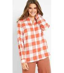 flanellen blouse