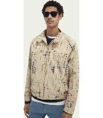 scotch & soda printed organic cotton-blend blouson jacket