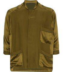 haider ackermann dali pajama-style shirt - green