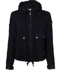 casaco le lis blanc margot malha algodão preto feminino (preto, gg)