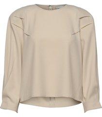 klaragz blouse ms21 blouse lange mouwen crème gestuz