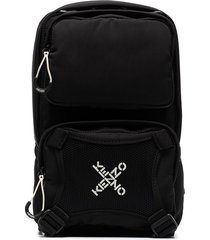 kenzo active one-shoulder backpack - black