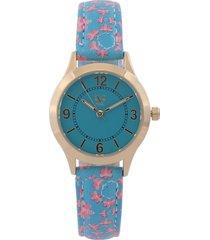 reloj azul-rosa-dorado versace 19.69