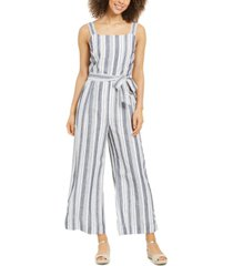 charter club petite sleeveless striped jumpsuit, created for macy's