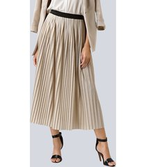 kjol alba moda beige::guldfärgad