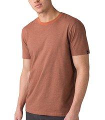 men's prana slim fit crewneck t-shirt, size xx-large - brown