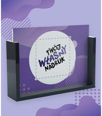 ramka na zdjęcia - szklana z czarną oprawką 13x18 cm z własnym nadrukiem