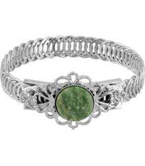 2028 silver-tone semi precious belt bracelet