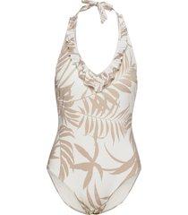 swimsuit janine swimsuit halte baddräkt badkläder vit lindex