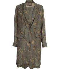 uma wang katia viscose long oversized jacket