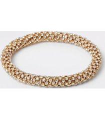 river island womens gold colour bobble rope bracelet