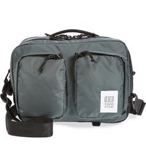 men's topo designs global water repellent briefcase - black