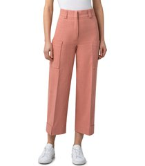 women's akris punto utility ankle denim pants, size 16 - coral