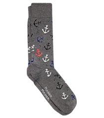 travel tech anchors & bubbles dress socks, 1-pair