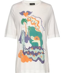 leonie, 840 placement tee t-shirts & tops short-sleeved wit stine goya