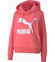 buzo rosa puma classic log hoody