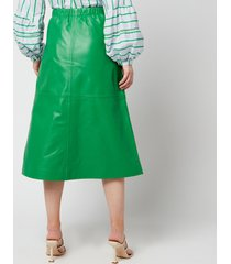 munthe women's tatu skirt - green - fr 34/uk 8
