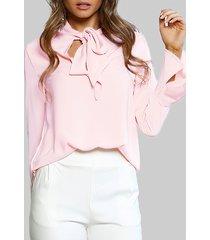 light rosa blusa con lazo diseño
