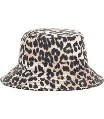 ganni animalier bucket hat