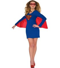 buyseason women's supergirl cape dress with wings costume
