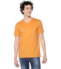 camiseta naranja-multicolor colore
