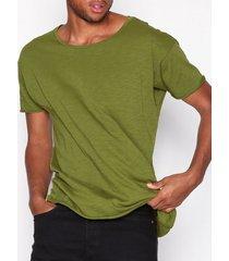nudie jeans roger slub t-shirts & linnen green