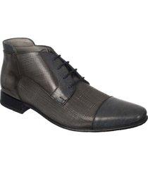 zapato formal pierre d'agostiny para hombre, ref botín gris