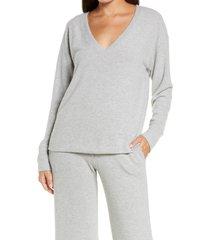 women's socialite lounge sweatshirt, size xx-large - grey