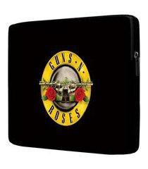 capa para notebook guns n' roses 15.6 à 17 polegadas com bolso