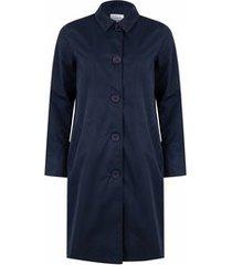 happyrainydays regenjas soft touch coat madrid midnight blue