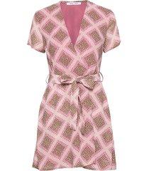 klea short dress aop 6621 korte jurk roze samsøe samsøe
