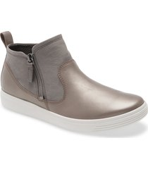 women's ecco soft classic bootie, size 4-4.5us - grey