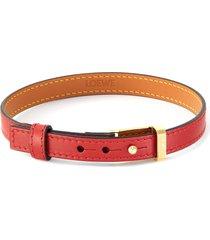 leather double bracelet