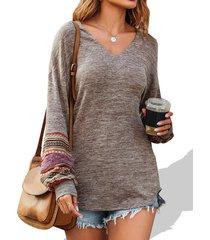 ethnic heathered tunic knitwear