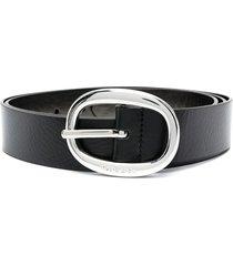 diesel oval-buckle belt - black