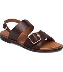 biadarla cross sandal shoes summer shoes flat sandals brun bianco