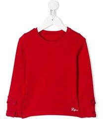 lapin house bow sleeve sweatshirt - red