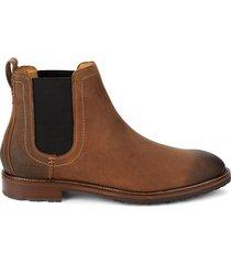 cole haan men's warner slip-on booties - chestnut - size 9.5