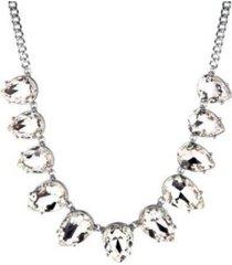 nicole miller teardrop stone statement necklace