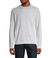 vince men's mesh-front sweater - heather grey - size xs