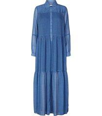 maxi jurk met print penny  blauw