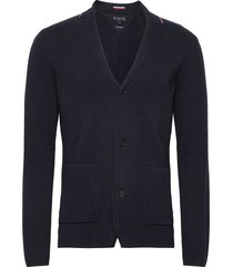 tipped single breasted blazer gebreide trui cardigan tommy hilfiger tailored
